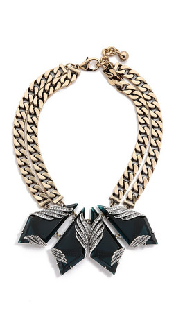 Lulu Frost Reflection Necklace - Blue/Antique Gold