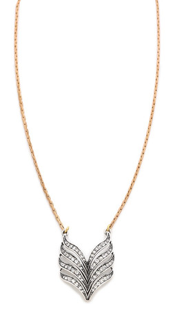 Lulu Frost Symmetry Pendant Necklace - Antique Gold/Clear