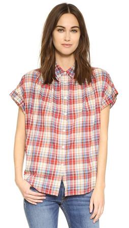Madewell Boxy Side Seam Shirt - Linen