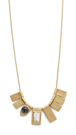 Madewell Cara Metal Necklace - Frosted Cement