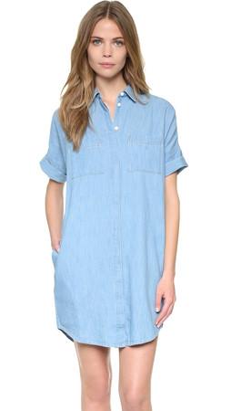 Madewell Courier Denim Dress - Denim