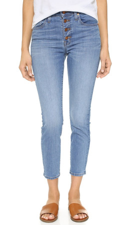 Madewell High Riser Skinny Skinny Crop Jeans - Kearney