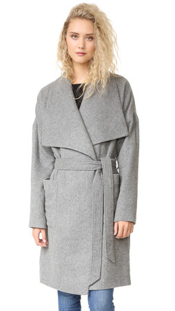 Madewell Kenmore Blanket Coat - Heather Grey