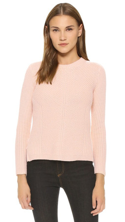 Madewell Sophia Ribbed Sweater - Peach Blush