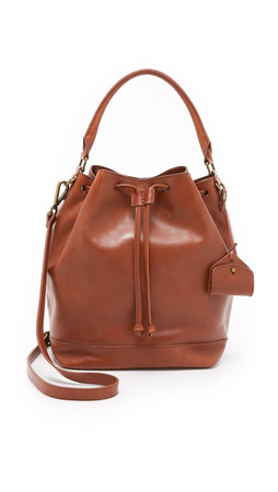 Madewell The Lafayette Bucket Bag - English Saddle