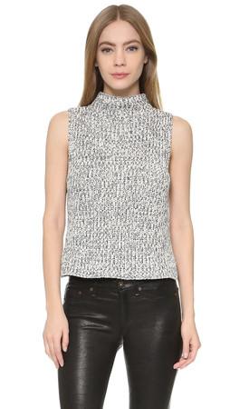 Madewell Veranda Sleeveless Sweater - Marled Ink