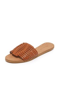 Madewell Willa Diamond Slide Sandals - English Saddle