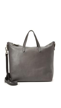 Madewell Zipper Transport Bag - Sleek Charcoal