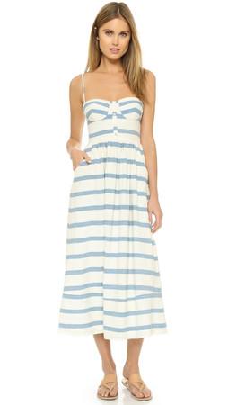 Mara Hoffman Bustier Maxi Dress - White