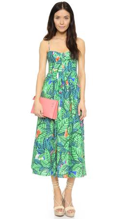 Mara Hoffman Leaf Bustier Dress - Blue Multi