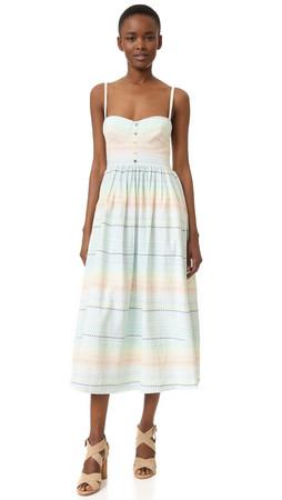 Mara Hoffman Piece & Co Bustier Dress - Pastel Rainbow