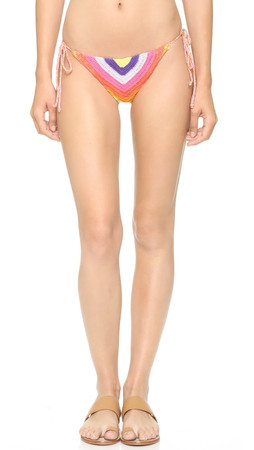 Mara Hoffman Prismatic Crochet Tie Bikini Bottoms - Rainbow Multi