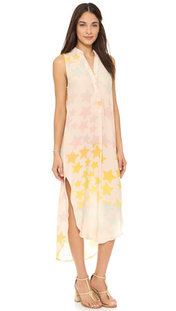 Mara Hoffman Star Blast Shirt Dress - Peachy Pink