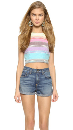 Mara Hoffman Striped Crop Tank - Rainbow Stripe