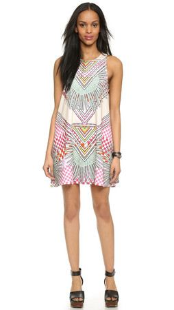 Mara Hoffman Swing Dress - Rainbow Palm Stone