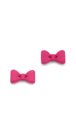 Marc By Marc Jacobs Alice Bow Stud Earrings - Singing Rose