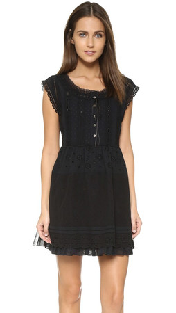 Marc By Marc Jacobs Broderie Anglaise Dress - Black