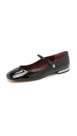 Marc By Marc Jacobs Brooke Mary Jane Flats - Black