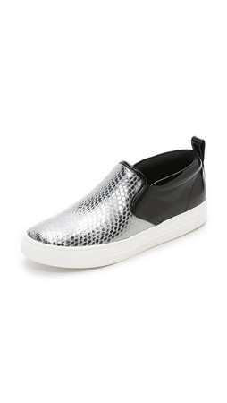 Marc By Marc Jacobs Broome Slip On Sneakers - Dark Silver