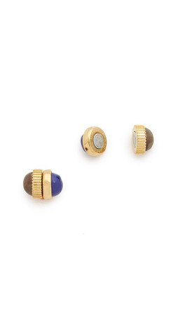 Marc By Marc Jacobs Cabochon Magnetic Stud Earrings - Lapis Multi