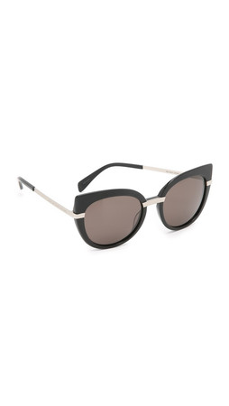 Marc By Marc Jacobs Cat Eye Sunglasses - Black/Brown Grey