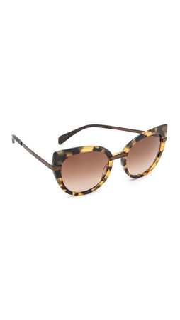Marc By Marc Jacobs Cat Eye Sunglasses - Spotted Havana/Brown