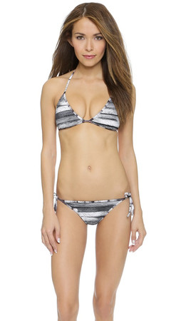 Marc By Marc Jacobs Debbie Reversible Bikini Top - Black Multi