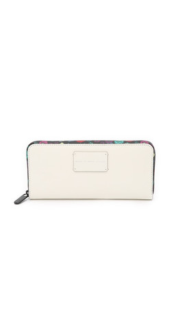 Marc By Marc Jacobs Ditsy Flower Slim Zip Around Wallet - Lily Of The Valley Multi