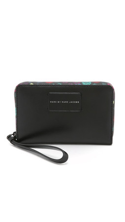 Marc By Marc Jacobs Ditsy Flower Wingman Wallet - Black Multi