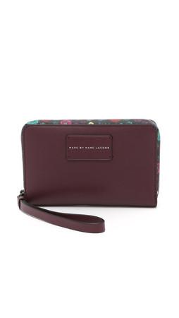 Marc By Marc Jacobs Ditsy Flower Wingman Wallet - Crimson Petal Multi