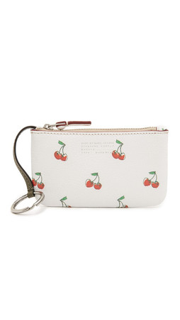 Marc By Marc Jacobs Fruit Key Pouch - Off White Cherry Print