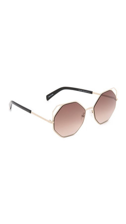 Marc By Marc Jacobs Geometric Sunglasses - Gold/Brown Gradient