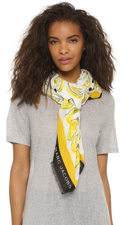 Marc By Marc Jacobs Lemon Slices Scarf - Off White Multi