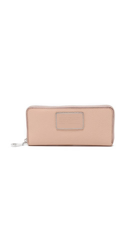 Marc By Marc Jacobs Ligero Slim Zip Around Wallet - Cameo Nude