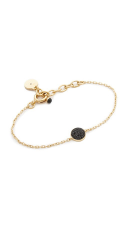 Marc By Marc Jacobs Pave Disc Bracelet - Black/Oro