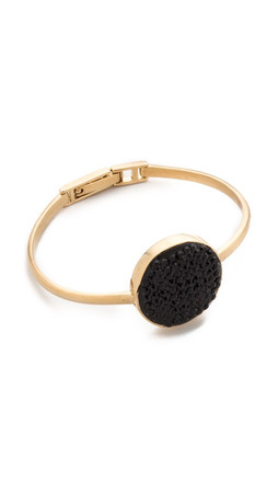 Marc By Marc Jacobs Pave Disc Hinge Cuff Bracelet - Black/Oro