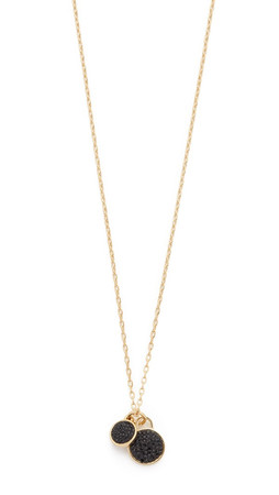 Marc By Marc Jacobs Pave Disc Pendant Necklace - Black/Oro