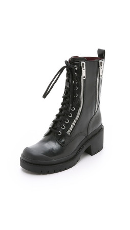 Marc By Marc Jacobs Richardson Zip Army Boots - Black