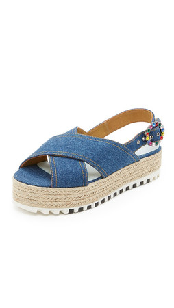 Marc Jacobs Beverly Platform Espadrille Sandals - Denim