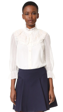 Marc Jacobs Button Up Blouse - White