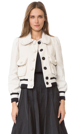 Marc Jacobs Cropped Jacket - Cream