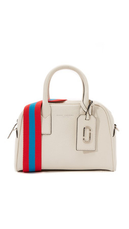 Marc Jacobs Gotham Small Bauletto Satchel - Off White