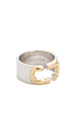 Marc Jacobs Icon Brand Ring - Silver Multi
