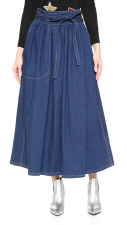Marc Jacobs Midi Wrap Skirt - Indigo