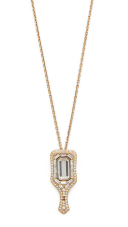 Marc Jacobs Mirror Necklace - Crystal/Antique Gold