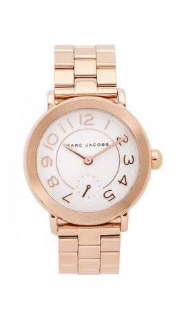 Marc Jacobs New Classic Tbd Watch - Rose Gold/White