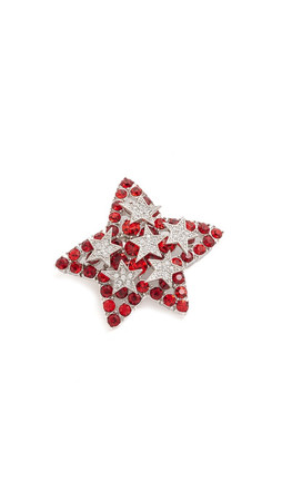 Marc Jacobs Oversized Star Brooch - Chili Pepper Multi