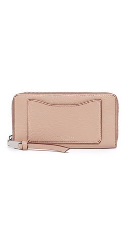 Marc Jacobs Recruit Standard Continental Wallet - Nude