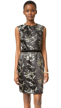 Marc Jacobs Sleeveless Jacquard Dress - Gold Multi