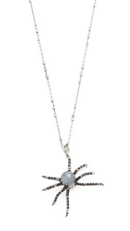 Marc Jacobs Spider Pendant Necklace - Jet Multi/Antique Silver
